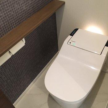 トイレは全自動です