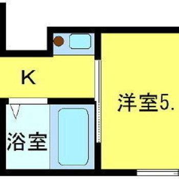 ミニマリストさん向けの1Kのお部屋。