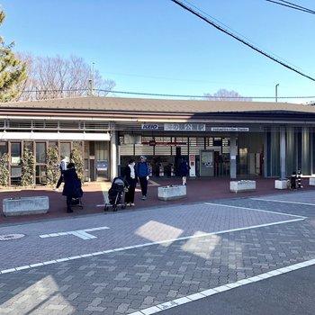 駅前の風景。のどかです。