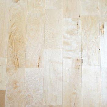 【イメージ】このお部屋の床材のバーチはさらさらとした白っぽい色合いです