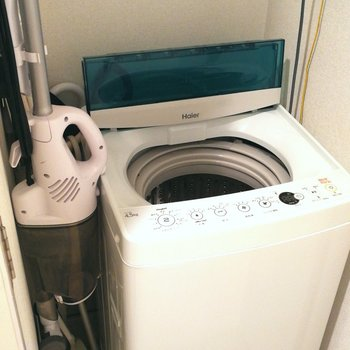 洗濯機も掃除用具もありますよー!