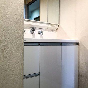 【別部屋写真】洗面台はきれいなものなので既存利用します◎