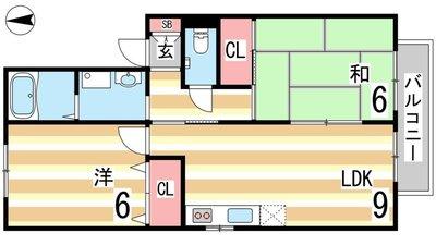コスタ魚崎の間取り図
