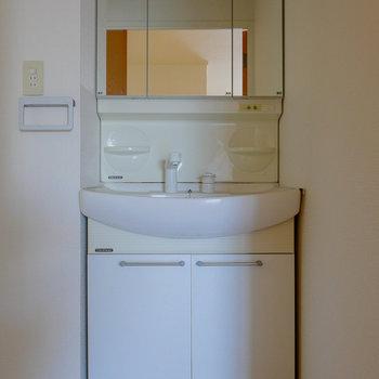 脱衣所に洗面台。