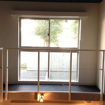 1階部分の眺め※写真は1階の反転間取り別部屋のものです。