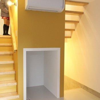1F背の低い収納※写真は2階の似た間取り別部屋のものです