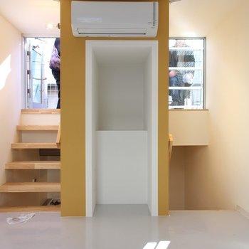 3Fにつながるリビング※写真は2階の似た間取り別部屋のものです