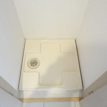 洗濯パンは扉で隠せます。※写真は11階の同間取り別部屋のものです
