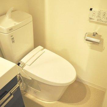 きれいなトイレ※写真は10階の同間取り別部屋のものです