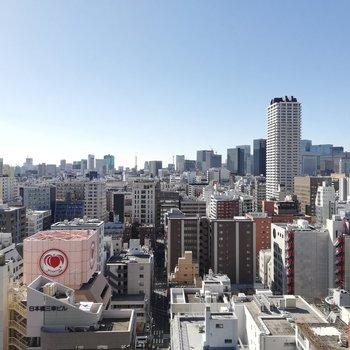 青空広い眺望が気持ちいい。