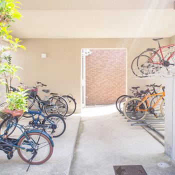 駐輪スペースもきちんと整頓されています。