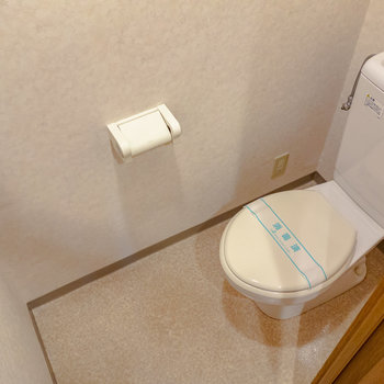 トイレは個室です。※写真は6階の同間取り別部屋のものです
