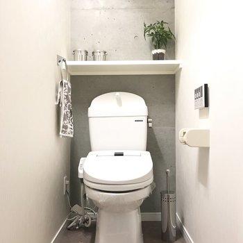かっこいいトイレにしちゃってください!※写真は7階の同間取り別部屋、モデルルームのものです