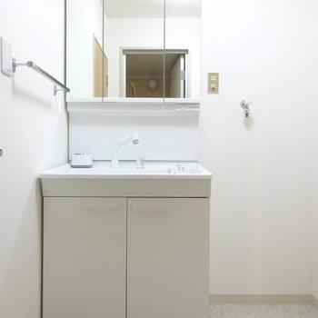 洗面台も新しめでキレイ◎