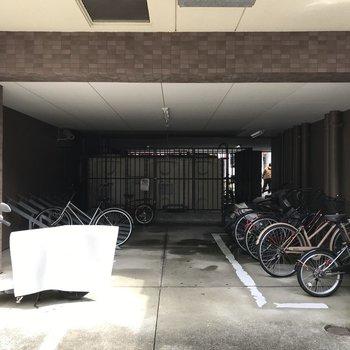 駐輪場も広くてとめやすそう!