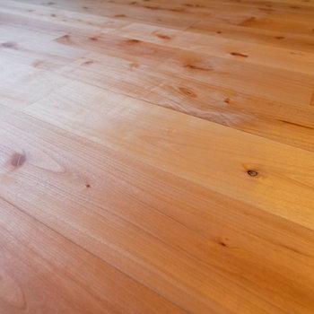 【イメージ】サクラの無垢床はほんのり色づいているのが特徴的。