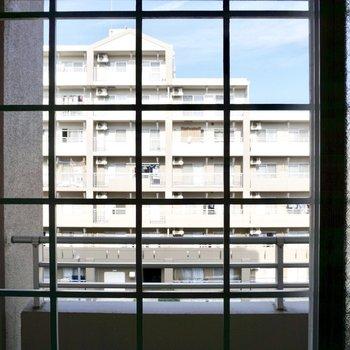 洋室の窓の外は共有部の廊下になるので、普段はすりガラスの窓を閉めておくと良いですね。