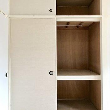同じ広さの収納があるから部屋選びで揉めることなし。※写真は4階の同間取り別部屋のものです