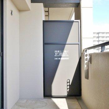 ちょっぴり広めのバルコニー。※写真は、同一タイプの7階部分。