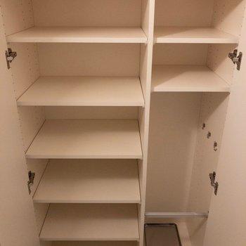 靴が沢山入りますね〜※写真は2階の同間取り別部屋のものです