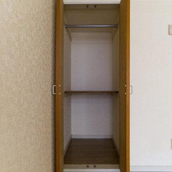 収納はやや狭め。ロフトを上手に使おう。※写真は通電前のものです