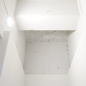 天井は塗装を施して隠れ部屋チック