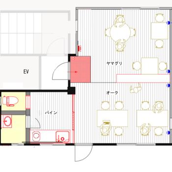 実は3種類の無垢床でリノベーションされたレアな事務所 ※図面に相違ある場合は、現況優先