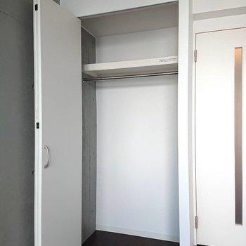 収納内に収まるだけの荷物を持って。※写真は2階の同間取り別部屋のものです