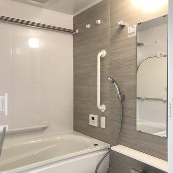 バスルーム、ゆったりと。たまには入浴剤入れようかな※写真は20階の同間取り別部屋のものです