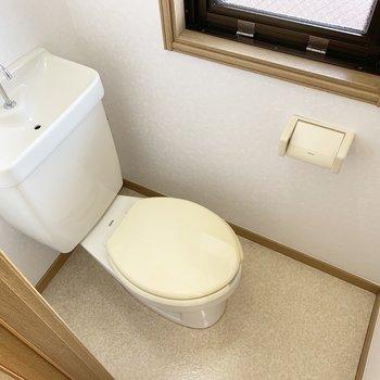 トイレには窓がついています、ありがたい、、