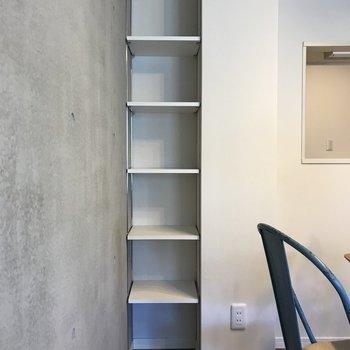 見せる収納は腕がなります。※写真は2階の同間取り別部屋、モデルルームのものです