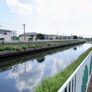近くには引地川が流れます。川沿いに15分ほど歩けば海に到着します。