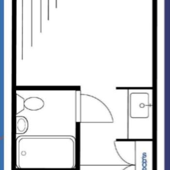 居室は1段下がっています。