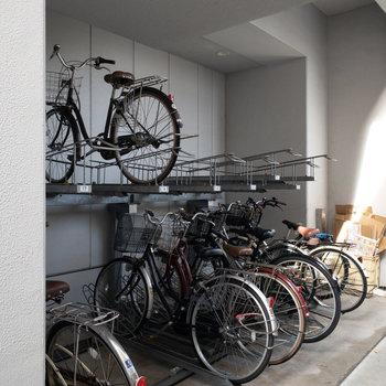 自転車置き場は2箇所ありました!