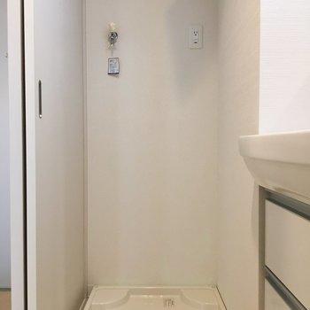 横には洗濯機置場