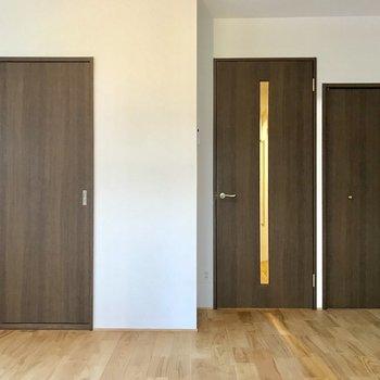 扉の色はシックにまとまってます。※写真は前回募集時のものです