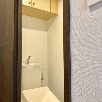 お手洗いは嬉しいストック収納付き。※写真は前回募集時のものです