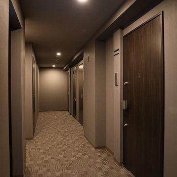 うち廊下なのでキレイ!清潔感が保たれます。