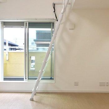 【LDK】はしごは壁側に立てかけておくこともできますよ。