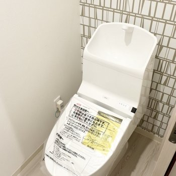 トイレもステキ※写真は反転間取り別部屋、モデルルームのものです。