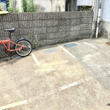 共用部】駐輪場には屋根はありません、、
