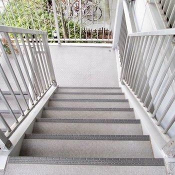 階段での移動になります
