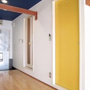 黄色の扉を開けると〜※写真はクリーニング前のものです