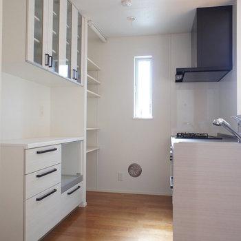 キッチンはゆとりのあるスペース。