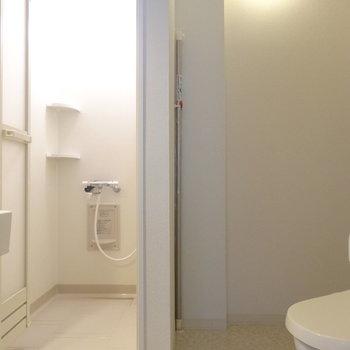 水周りはキッチンの奥※写真は4階反転間取り別部屋のものです