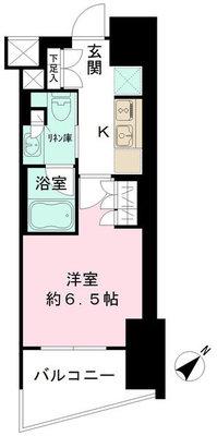 地上10階の優越の間取り図