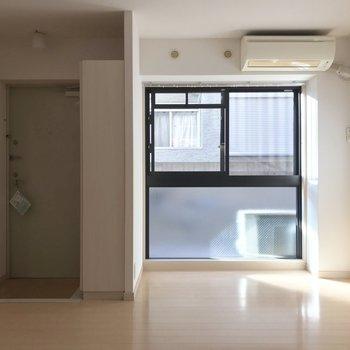 日当たりはまずまずです。※写真は1階の反転間取り別部屋のものです