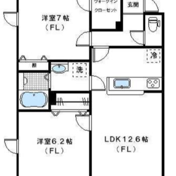 1つは子供部屋、1つは寝室に。収納も豊富ですね!