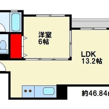 LDKは細長く広々〜!