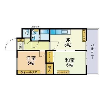 お互いのお部屋を持ちたい2人暮らしにちょうどいい、1DKの間取り。